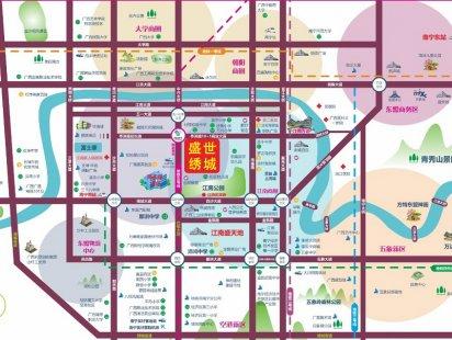 盛世绣城交通图