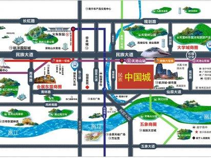 民族中国城交通图
