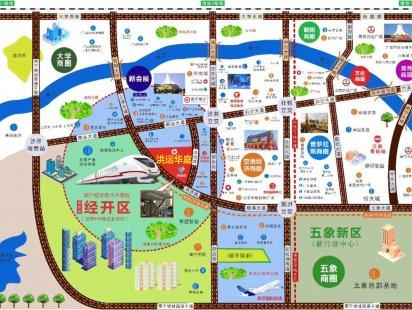 洪运华庭交通图