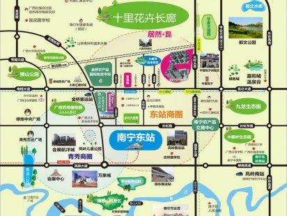 昆仑花园交通图