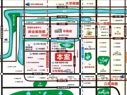 天樾龙庭交通图