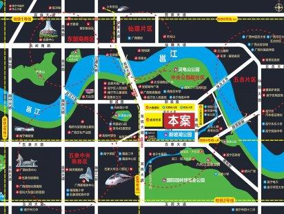 五象花园交通图
